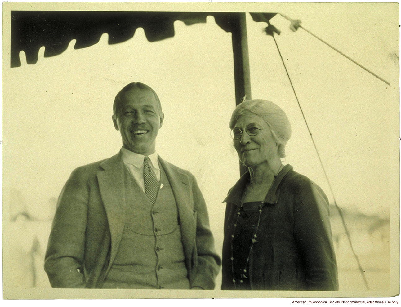 Mary T. Watts, founder of the Fitter Families Contest with superintendent of the contest at the Eastern States Exposition, Springfield, MA