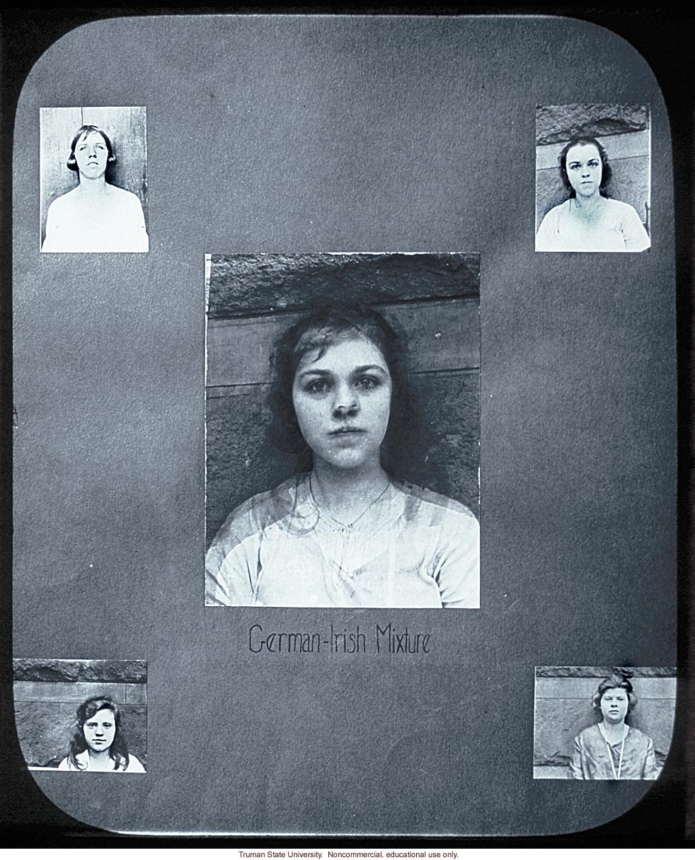 &quote;German-Irish mixture,&quote; composite portrait in the style of Franics Galton