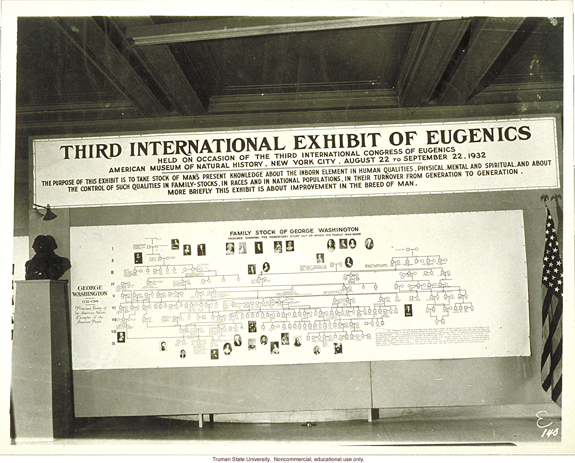 Pedigree exhibit: &quote;Family stock of G. Washington,&quote; 3rd International Eugenics Conference