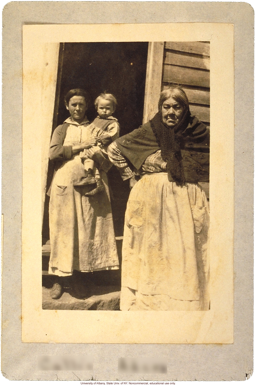 Callie Black (pseudonym) of the Win Tribe, from Arthur Estabrook's scrapbook of field photographs from Amherst County, Virginia
