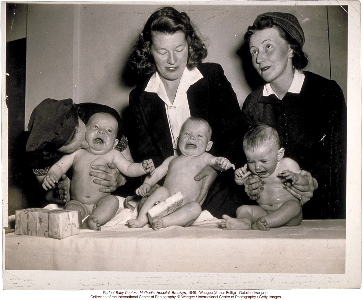 &quote;Methodist Hospital, Most Beautiful Baby, Brooklyn, 1941&quote; by Arthur Felig (Weegee)
