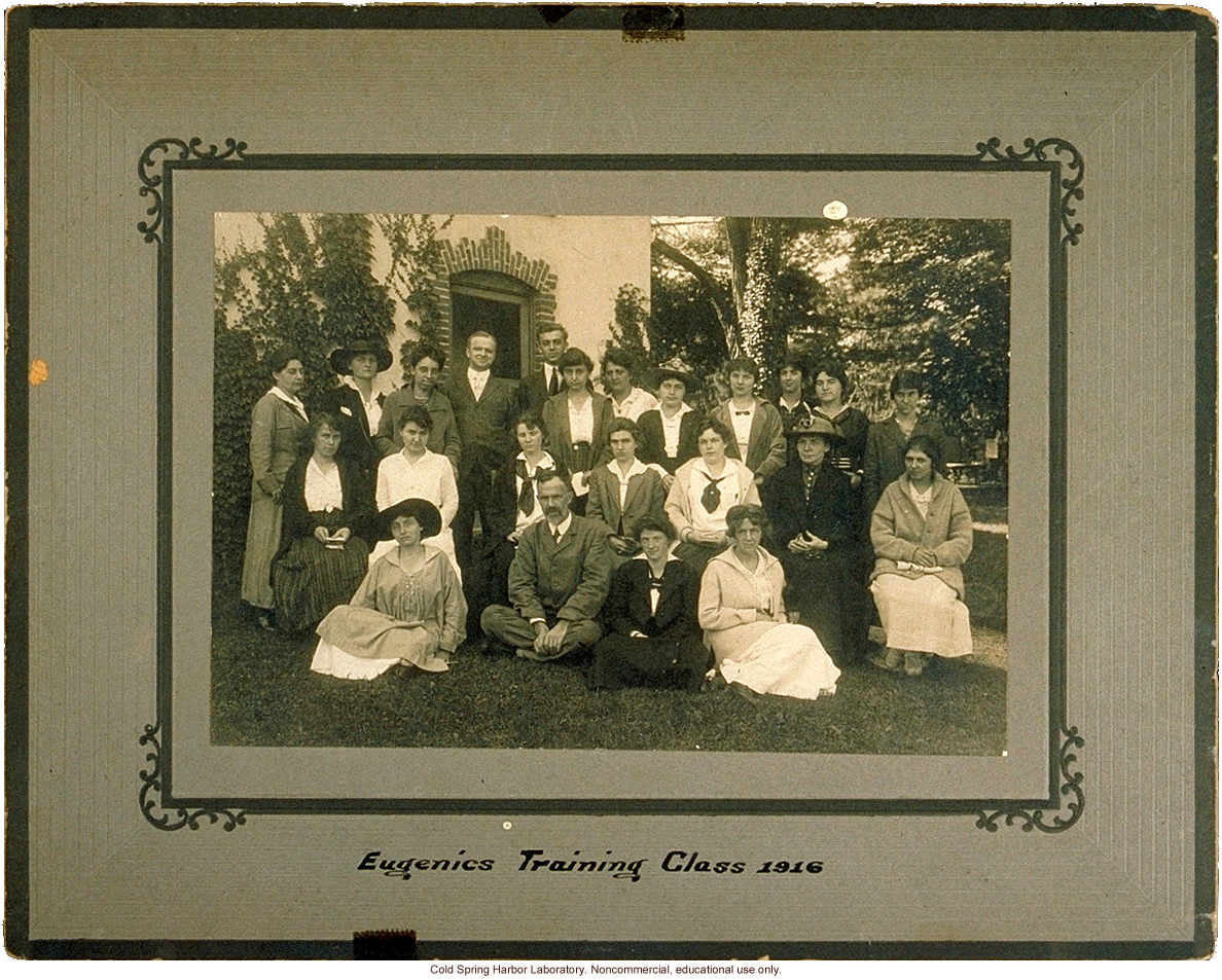 Eugenics Record Office, Field Worker Training Class of 1916 (Davenport in front with Laughlin in rear with white tie)