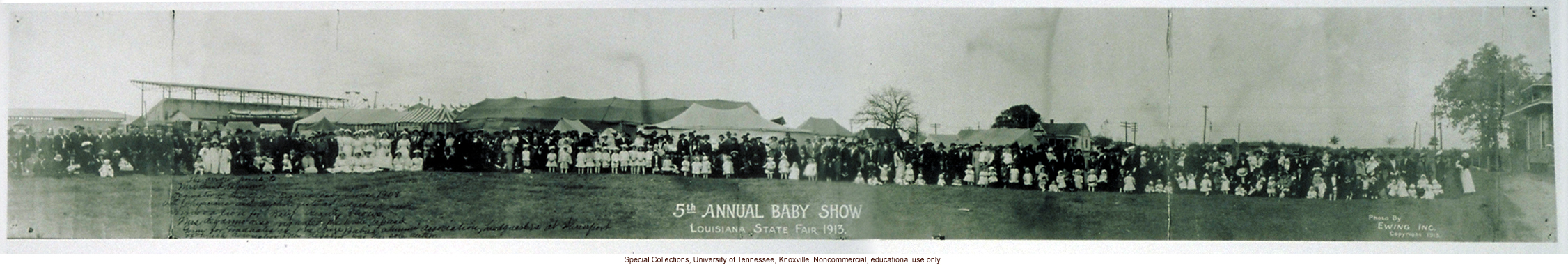 &quote;5th Annual Baby Show, Louisiana State Fair 1913&quote;