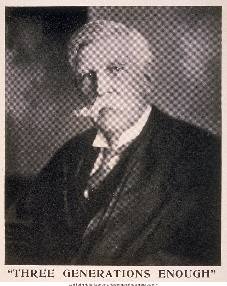 Oliver Wendell Holmes, from &quote;The Progress of Eugenical Sterilization,&quote; by Paul Popenoe, <i>Journal of Heredity</i> (vol. 25:1)