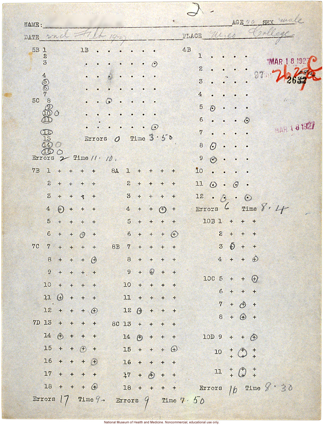 Mico College anthropometric case 2: photos, Schedule 3, measurements, pedigree, notes; by Morris Steggerda for <i>Race Crossing in Jamaica</i>