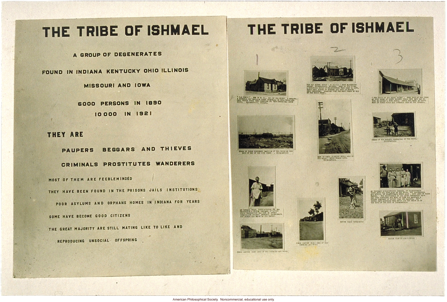 &quote;The tribe of Ishmael: A group of degenerates found in Indiana, Kentucky, Ohio, Illinois, Missouri, and Iowa -- with individual photos and captions