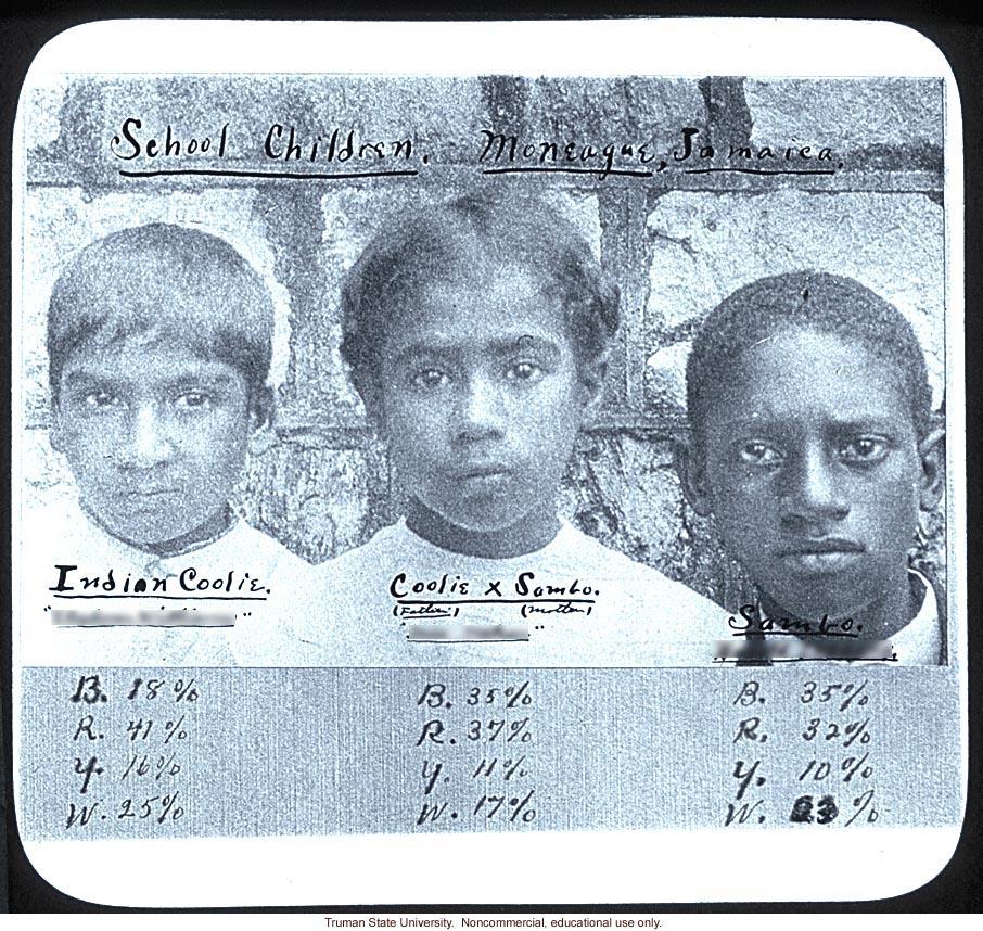 Mixed race Jamaican school children