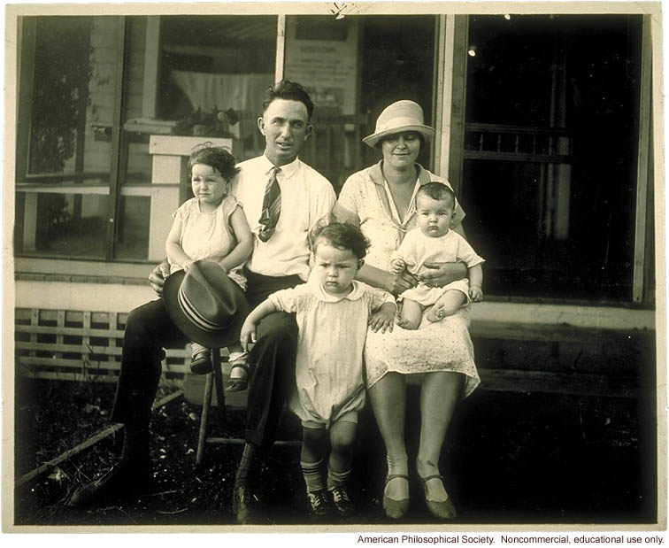 &quote;Medium family&quote; winner, Fitter Families Contest, Kansas State Free Fair (1927)
