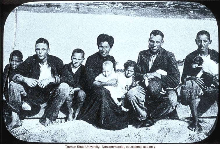 Second generation Negro-White family, Bermuda