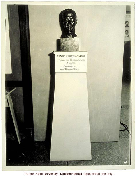 Bust of C. Davenport, 3rd International Eugenics Conference