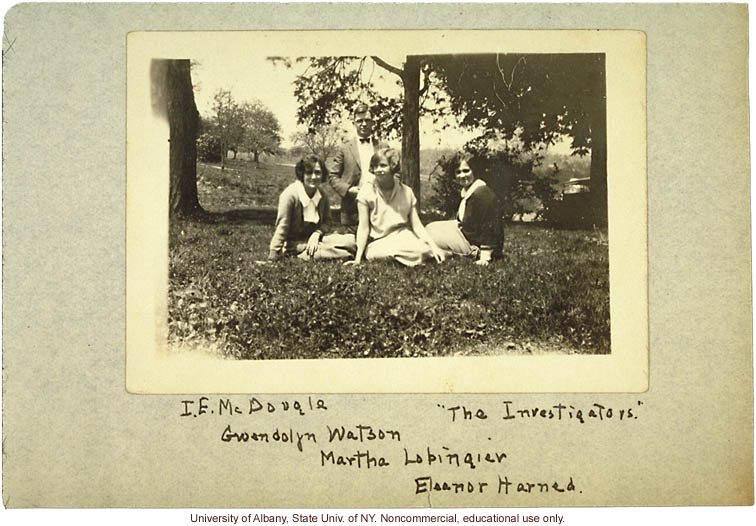 &quote;The Investigators,&quote; Ivan E. McDougle and assistants (Gwendolyn Watson, Martha Lobingier, Eleanor Harned), in Amherst County, Virginia