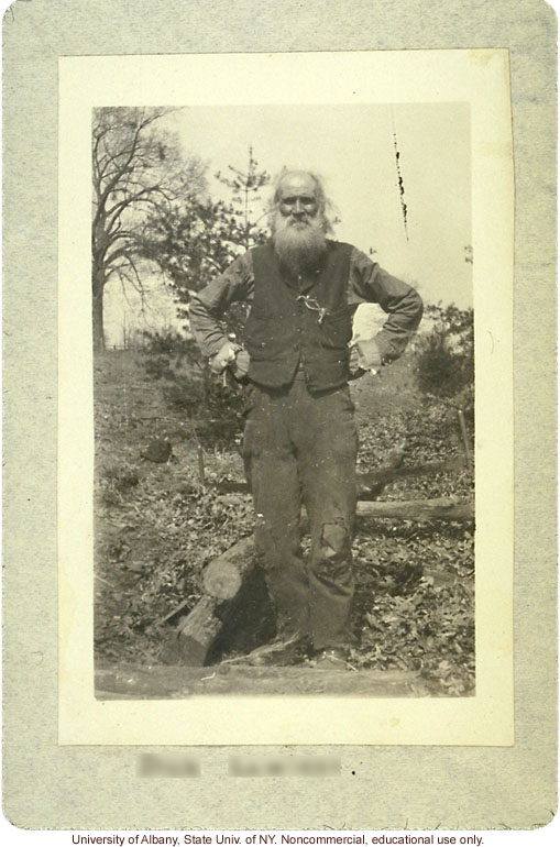Dick Johnson (pseudonym) of the Win Tribe, from Arthur Estabrook's scrapbook of field photographs from Amherst County, Virginia