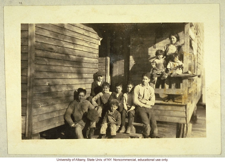 &quote;Triple Mixtures&quote; (Caucasian-Indian-Negro) in Robeson County, North Carolina, from from Arthur Estabrook's scrapbook of field photographs