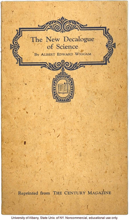 &quote;The New Decalogue of Science,&quote; by Albert Edward Wiggam