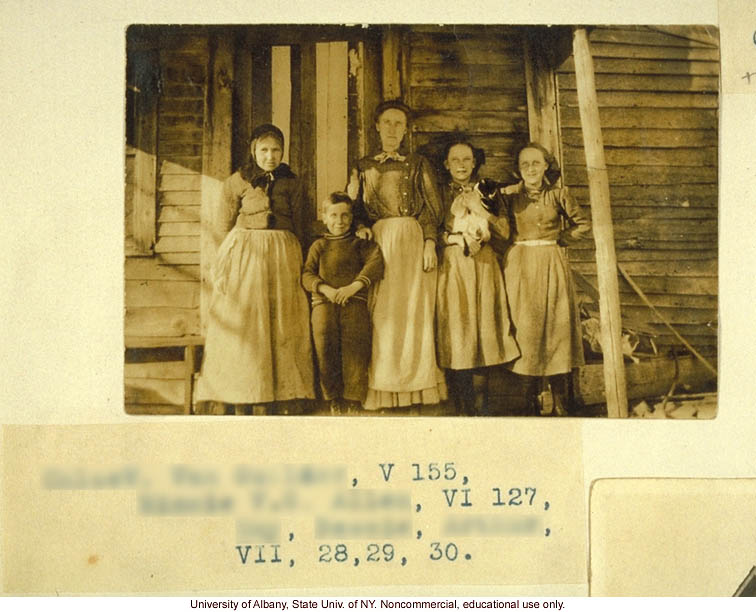 The Nam Family, by A. Estabrook and C. Davenport, pedigree of V87, V127, V155 (p. 21) and corresponding field portraits from back of Estabrook's copy