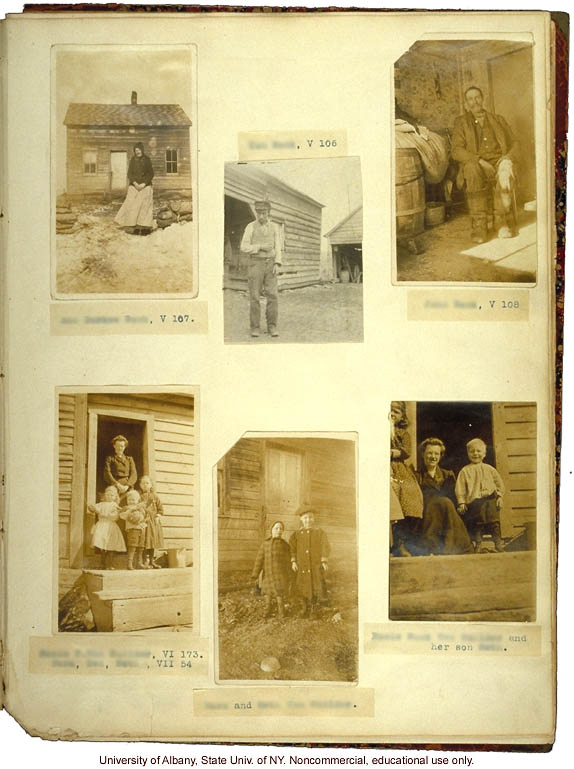 The Nam Family, by A. Estabrook and C. Davenport, pedigree of V106-V109 (p. 26) and corresponding field portraits from back of Estabrook's copy