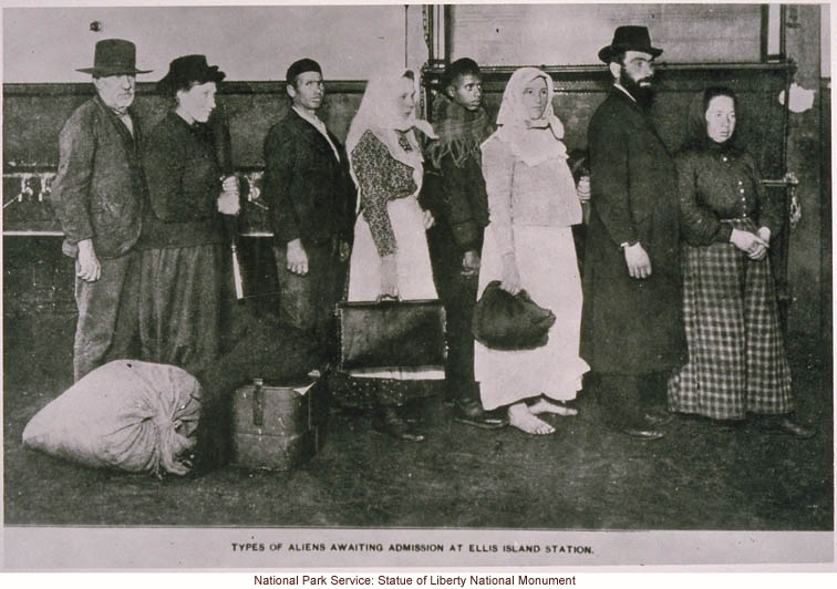 &quote;Types of Aliens Awaiting Admission at Ellis Island Station&quote;