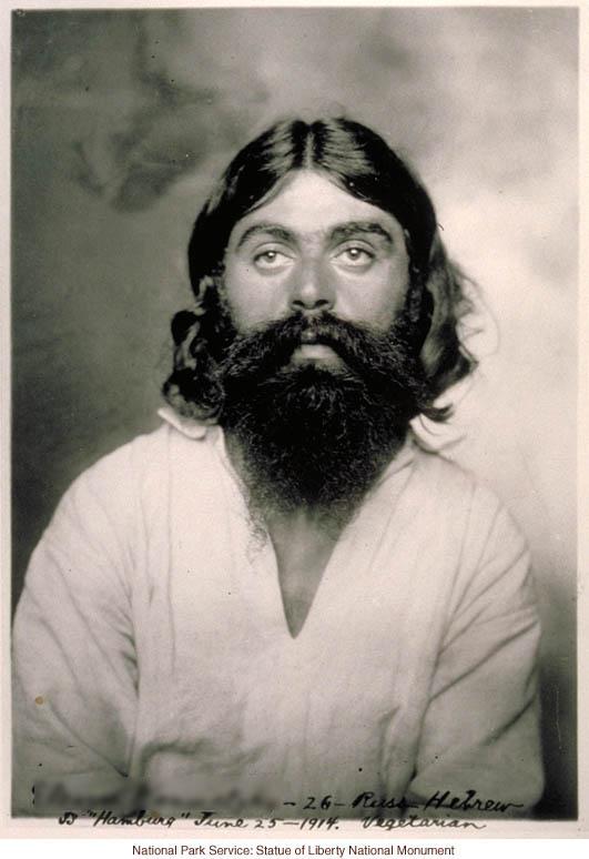 Russian Jew at Ellis Island (Photograph by Augustus Sherman)