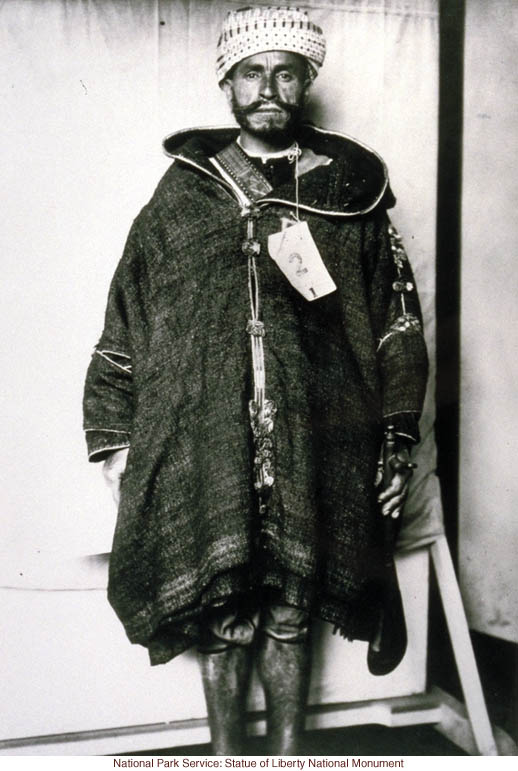 North African immigrant at Ellis Island (Photograph by Augustus Sherman)