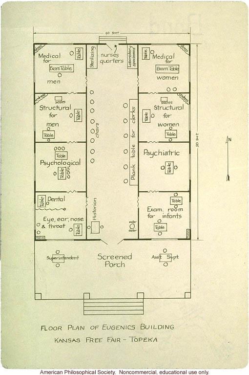 &quote;Floor plan Eugenics Building at  Kansas Free Fair - Topeka