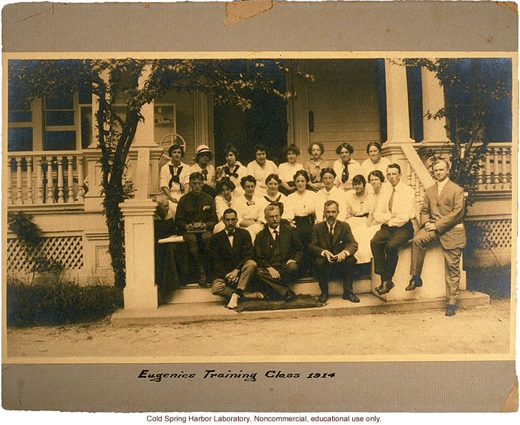Eugenics Record Office, Field Worker Training Class of 1914 (Davenport and Laughlin seated 3rd and 5th in front row)
