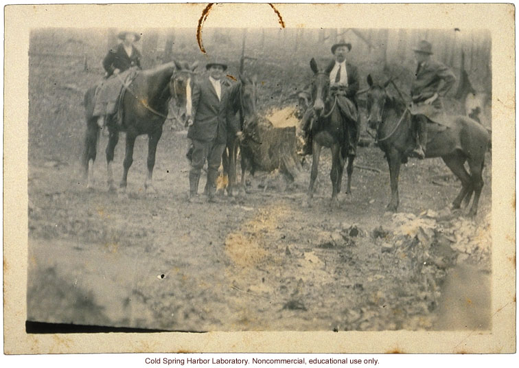Charles B. Davenport doing fieldwork in Leslie County, Kentucky