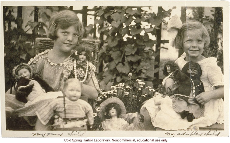 Family study, Eugenics Record Office &quote;Individual Analysis Card&quote; and submitted photos