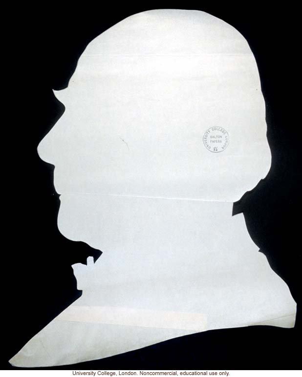 Francis Galton's silhouette