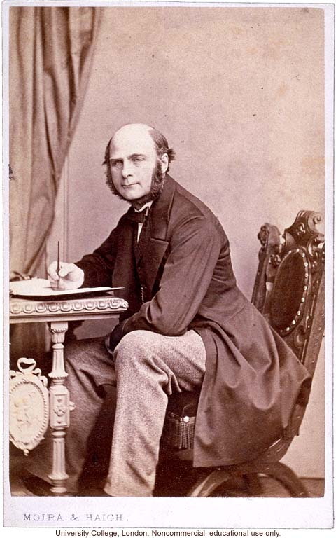 Francis Galton carte de visite portrait, seated