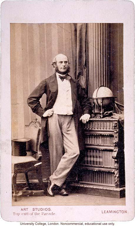 Francis Galton carte de visite portrait, standing