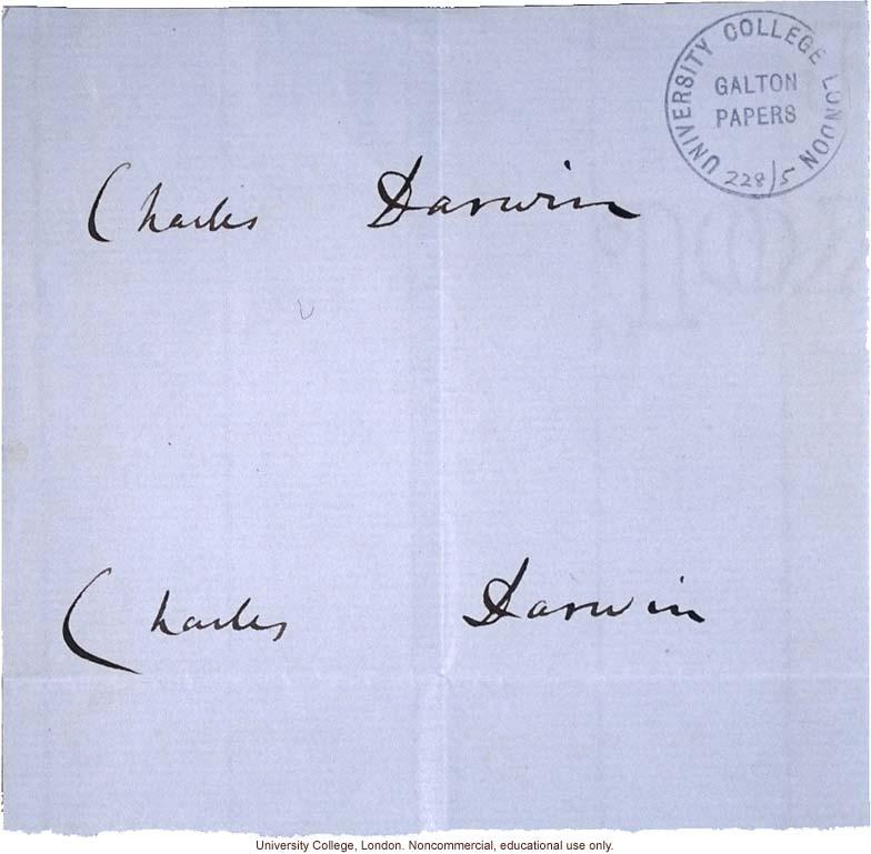 Charles Darwin Signatures
