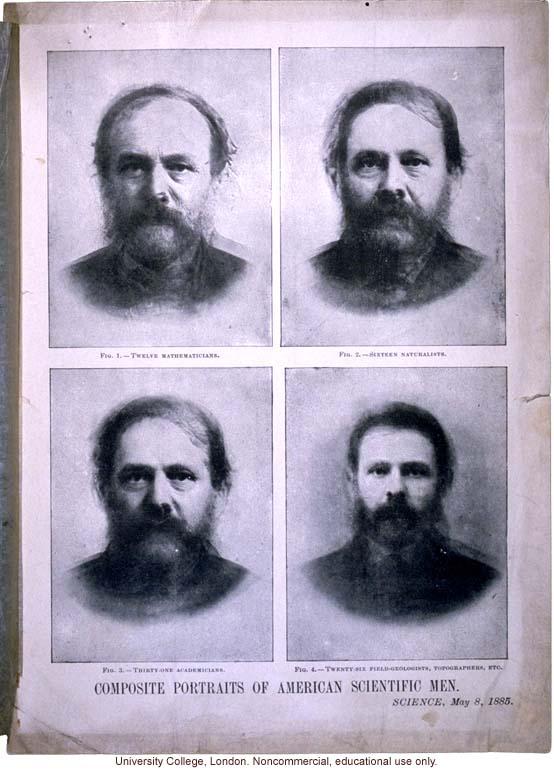 &quote;Composite Portraits of Scientific Men,&quote; by Francis Galton, <i>Science</i> (5/8/1885)
