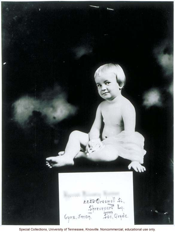 Six-year old Better Babies contestant, Louisiana State Fair, Shreveport (including receiving physical exam and posing with prize ribbons)