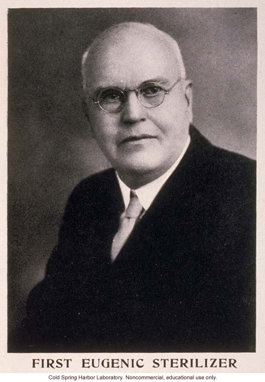 Harry Sharp, from &quote;The Progress of Eugenical Sterilization,&quote; by Paul Popenoe, <i>Journal of Heredity</i> (vol. 25:1)