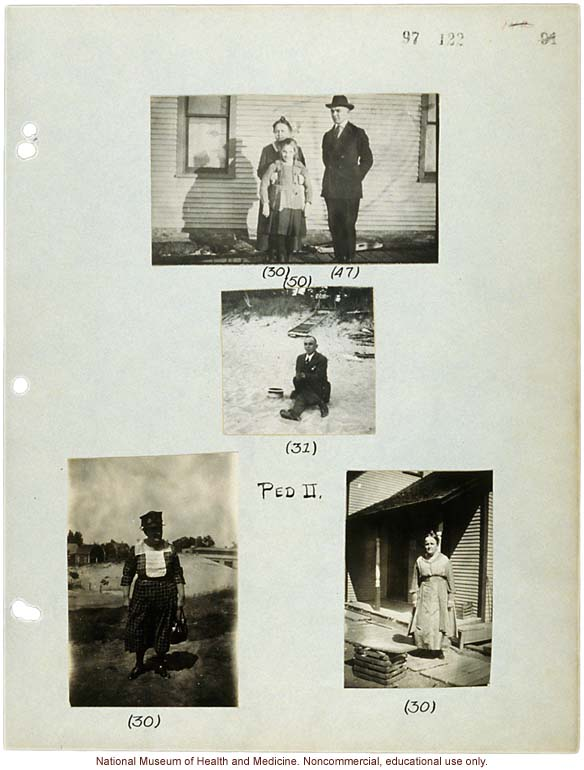 Morris Steggerda (31), with mother (30), father (47) and sister (50), photographs from his own family pedigree