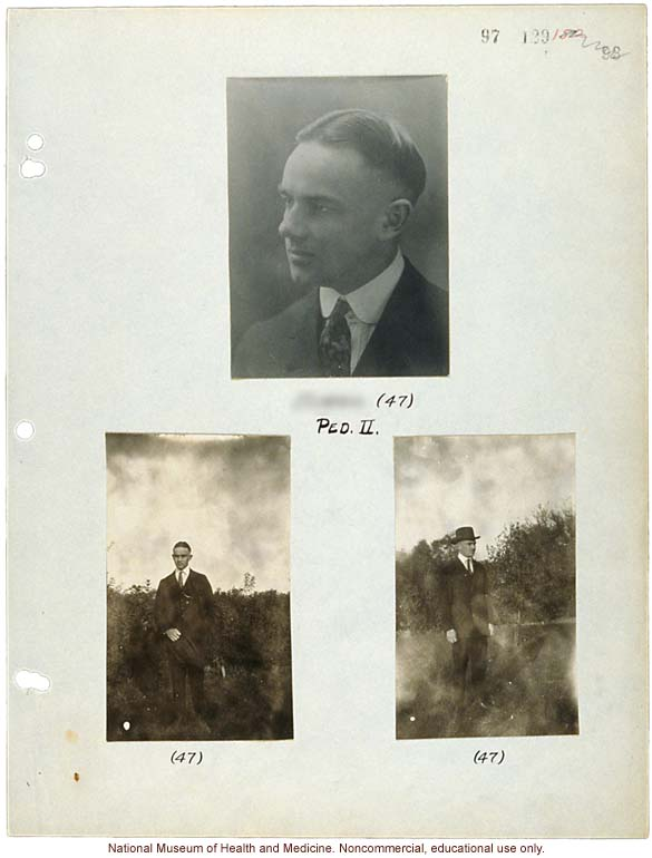 Morris Steggerda, photographs from his his own family pedigree
