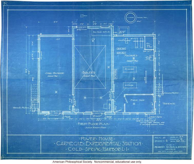 Power house blueprint, Station of Experimental Evolution