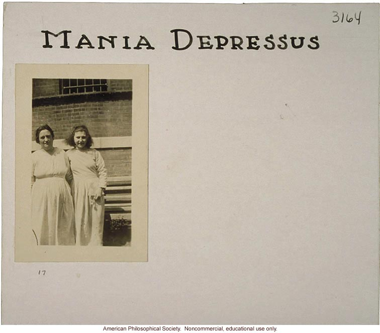 &quote;Mania depressus,&quote; flash card on genetic defects