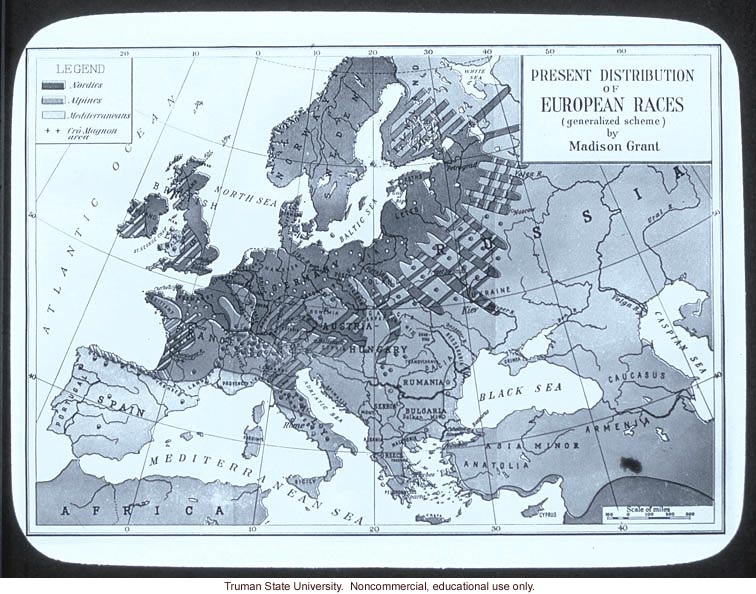 &quote;Present distribution of European races&quote;