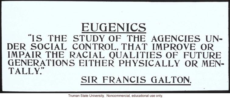 Francis Galton's definition of eugenics