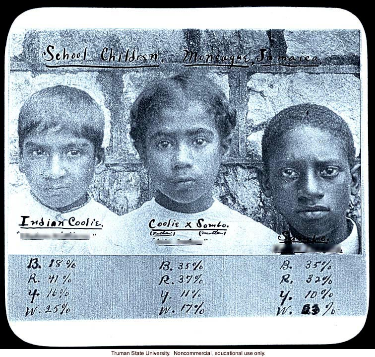Mixed race Jamaican school children