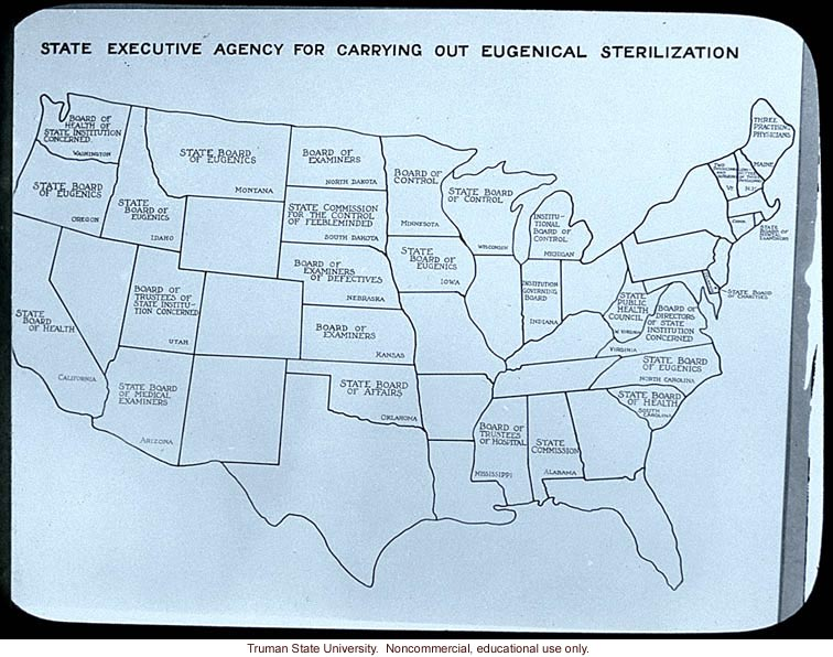 &quote;State executive agency for carrying out eugenical sterilization&quote;