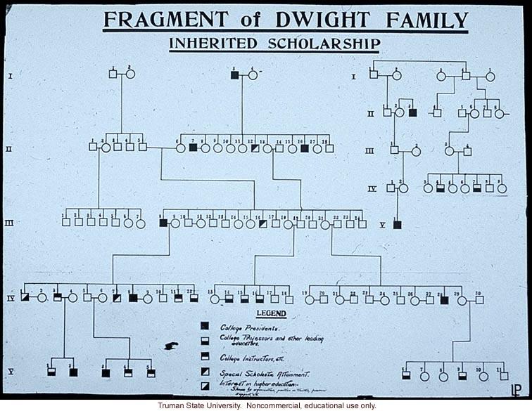 &quote;Fragment of Dwight family: inherited scholarship&quote;