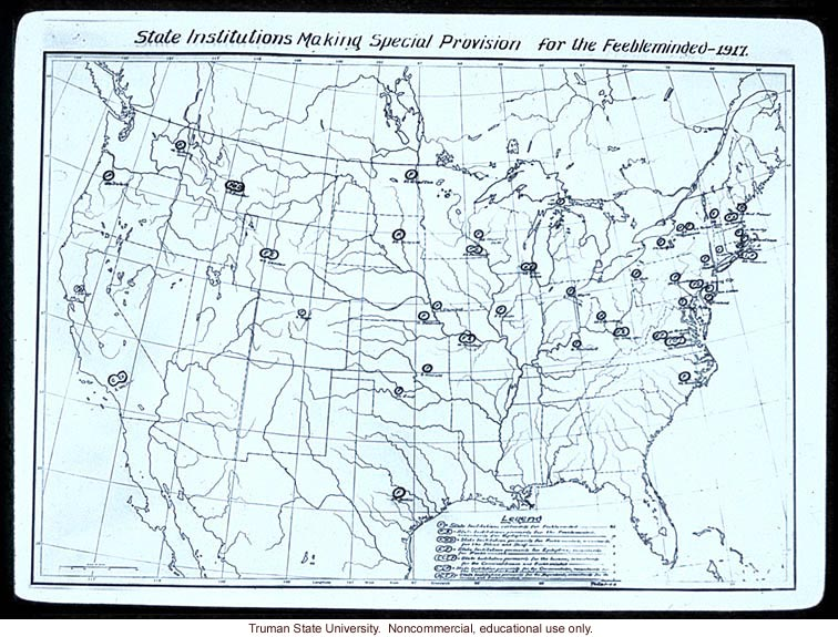 &quote;State institutions making special provisions for the feebleminded -- 1917&quote;