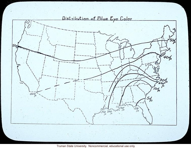&quote;Distribution of blue eye color&quote; in the United States